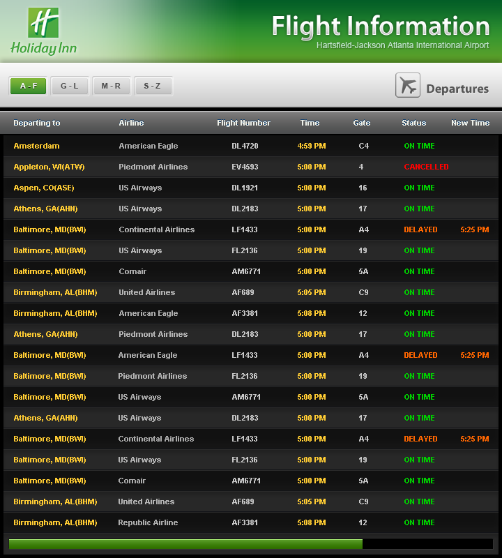 Flightboard for HI